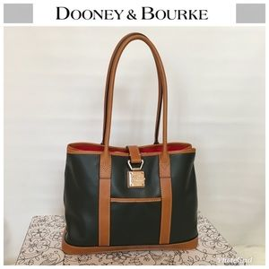 Dooney & Bourke Forest Green Leather Shopper Tote
